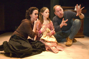 "Craig Johnson directs Stacia Rice (left) and Shelby Flannery in Torch Theater's ""The Miracle Worker."""