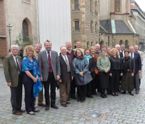 A delegation of Lutheran church leaders from the Minneapolis Area Synod, ELCA, visits with counterparts from the Leipzig District of the Evangelical Lutheran Church of Saxony on the 20th anniversary of the peaceful revolution.