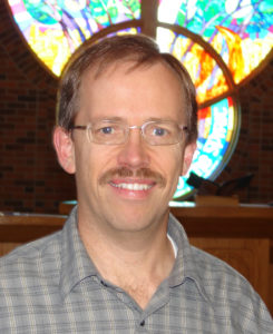 Pastor John Hulden, Trinity Lutheran Church in Moorhead, Minnesota, metors first-call pastors in the Fargo-Moorhead area through a partnership funded by a Lilly Foundation grant.