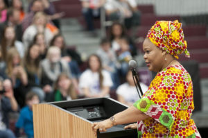 Liberian Lutheran Leymah Gbowee's keynote brought the Nobel event to a conclusion.
