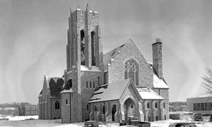 Mount Olivet Lutheran Church, an Augustana Synod congregation, shown here in 1949, eventually became the largest Lutheran church in the world. Photo provided by Mark Granquist