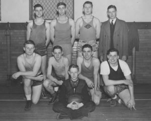 This Holy Trinity team included three sons of long-time pastor, the Rev. Carl Bartsch -- Carl, farleft of back row; Jim, second from left of middle row; and Bob, front row with ball.