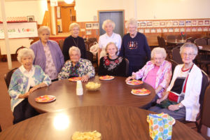 Carole Olson, Marion Matson, Eleanor Olson, Sylvia Myren,  Audrey Hagen, Norma Hovden, Gerry Anderson, Sally Erickson, and Grace Fenne are members of Fidelis Circle, which formed 70 years ago at Holy Communion Lutheran Church, one of the  congregations that formed Minnehaha Communion Lutheran Church, its current host church.